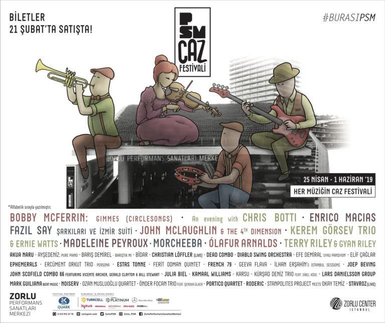 PSM Caz Festivali'nin biletleri satışta! Program da hemen burada…