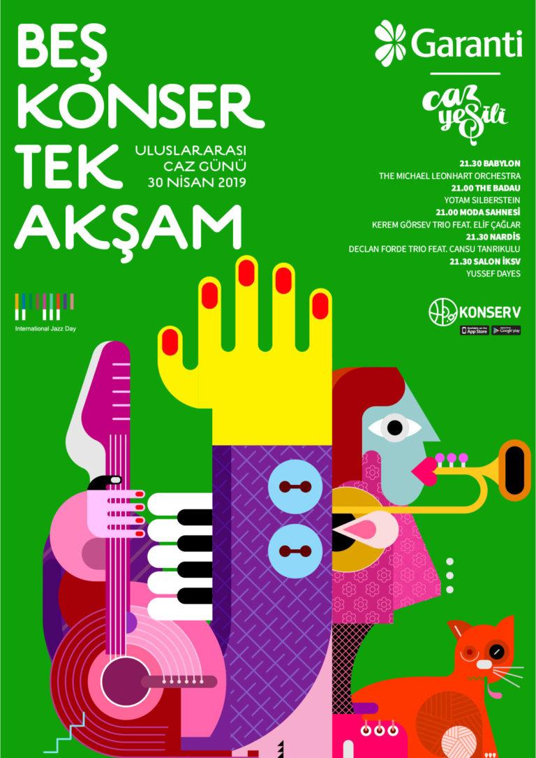 '5 Konser Tek Akşam' ile Uluslararası Caz Günü