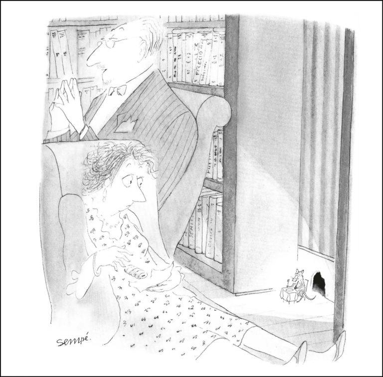 """Fransız karikatürist Sempé'den """"Terapi ve Diğer Şeyler"""""""