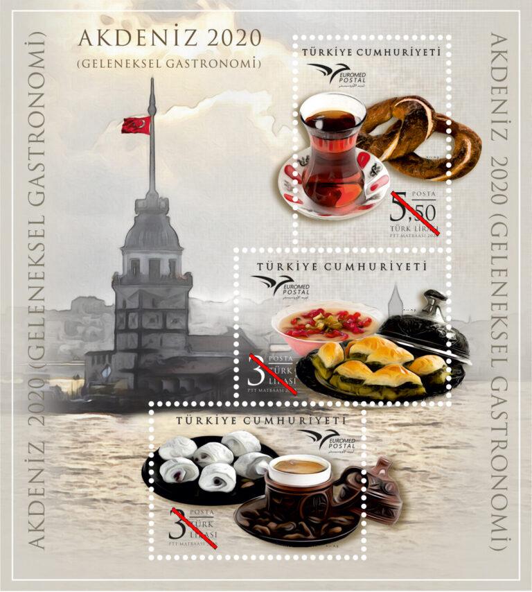 Akdeniz 2020 Geleneksel Gastronomi'de Türkiye'yi bu pul temsil edecek