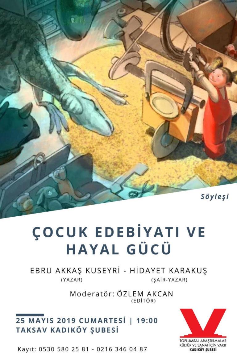 TAKSAV'da Çocuk Edebiyatı ve Hayal Gücü konuşulacak