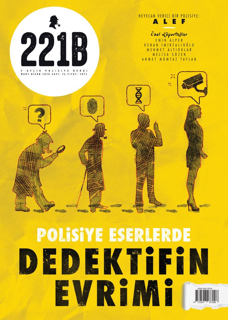 """221B'nin kapak dosyası """"Polisiye Eserlerde Dedektifin Evrimi"""""""