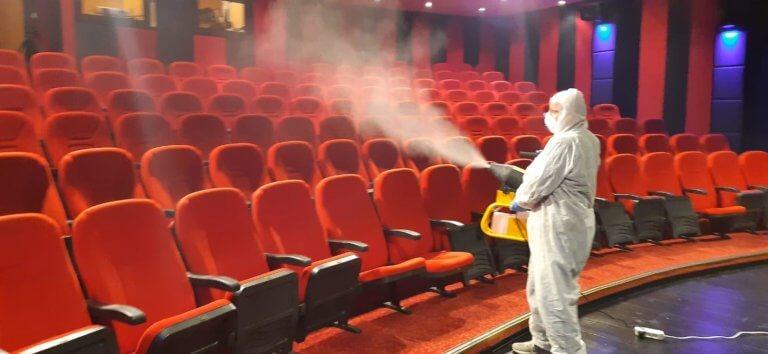 Tiyatro Ak'la Kara'da koronavirüs önlemi alındı