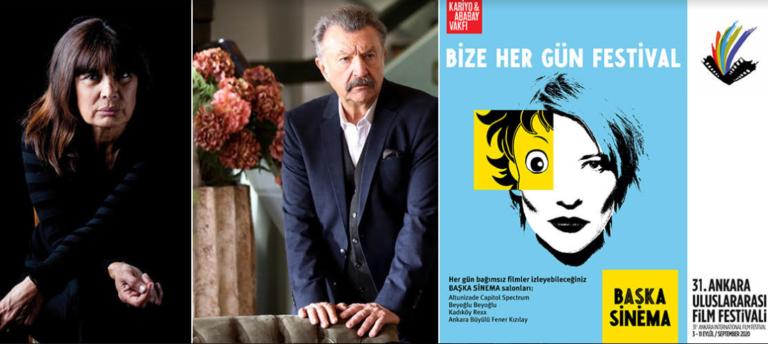 Ankara'nın Onur Ödülleri Şerif Sezer, Tamer Levent ve Başka Sinema'ya